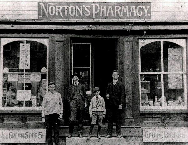 I found this photo of Dr. Edward and John J. Norton  outside their pharmacy in Ellicott City. I wonder if the actor Edward Norton is related to them, he is from Columbia Maryland......