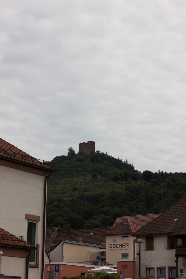 Castle Trifels looking down upon the village
