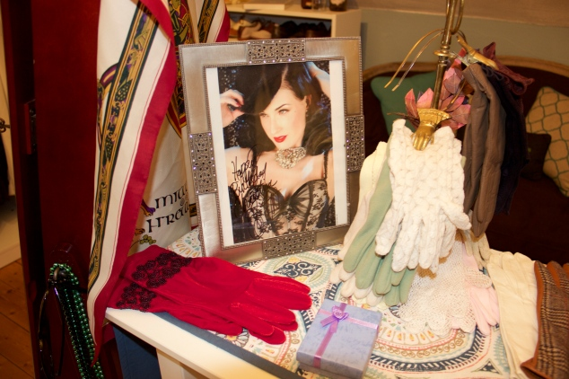 Of course I had to put up my autographed photo of my idol ~ Dita Von Teese.